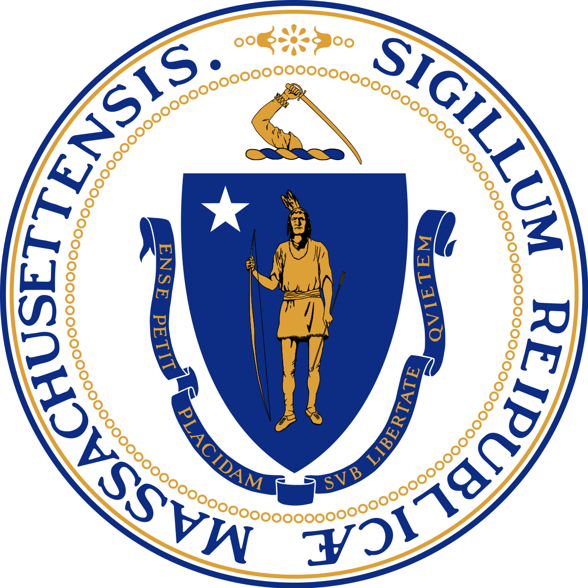 Massachusetts state police clipart svg free stock Seal of Massachusetts - Wikipedia svg free stock