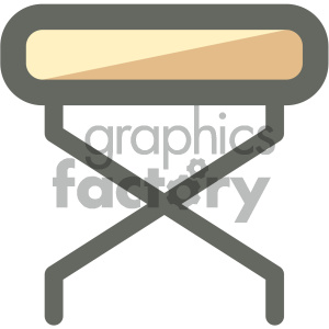 Massage bed clipart