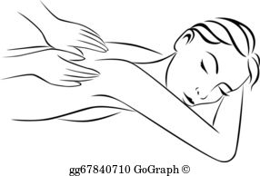 Massage free animated black and white clipart picture transparent Massage Clip Art - Royalty Free - GoGraph picture transparent