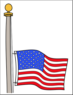 Mast clipart svg free download Clip Art: Memorial Day: Half Mast Flag Color 2 I abcteach.com | abcteach svg free download