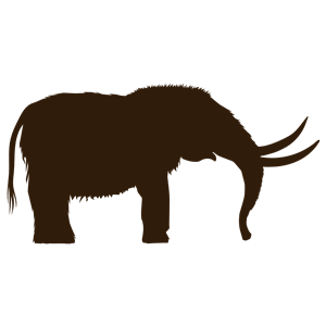 Mastodon clipart png black and white download Mastodon Silhouette clipart, cliparts of Mastodon Silhouette free ... png black and white download