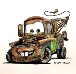 Mater clipart clipart black and white stock Download cars mater drawing clipart Mater Lightning McQueen Car clipart black and white stock