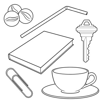 Materials clipart black and white picture transparent library Magnetic and Non-Magnetic Materials Clip Art picture transparent library