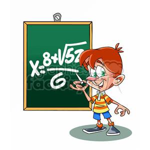 Math class clipart clip black and white vector cartoon child in math class school clipart. Royalty-free clipart #  393753 clip black and white