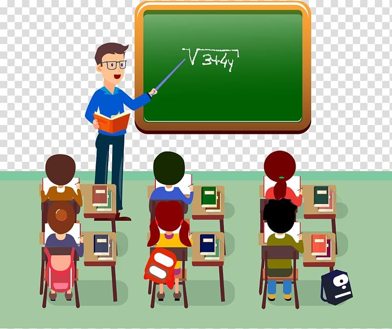 Math class clipart black and white Man teaching Mathematic illustration, Student Teacher ... black and white