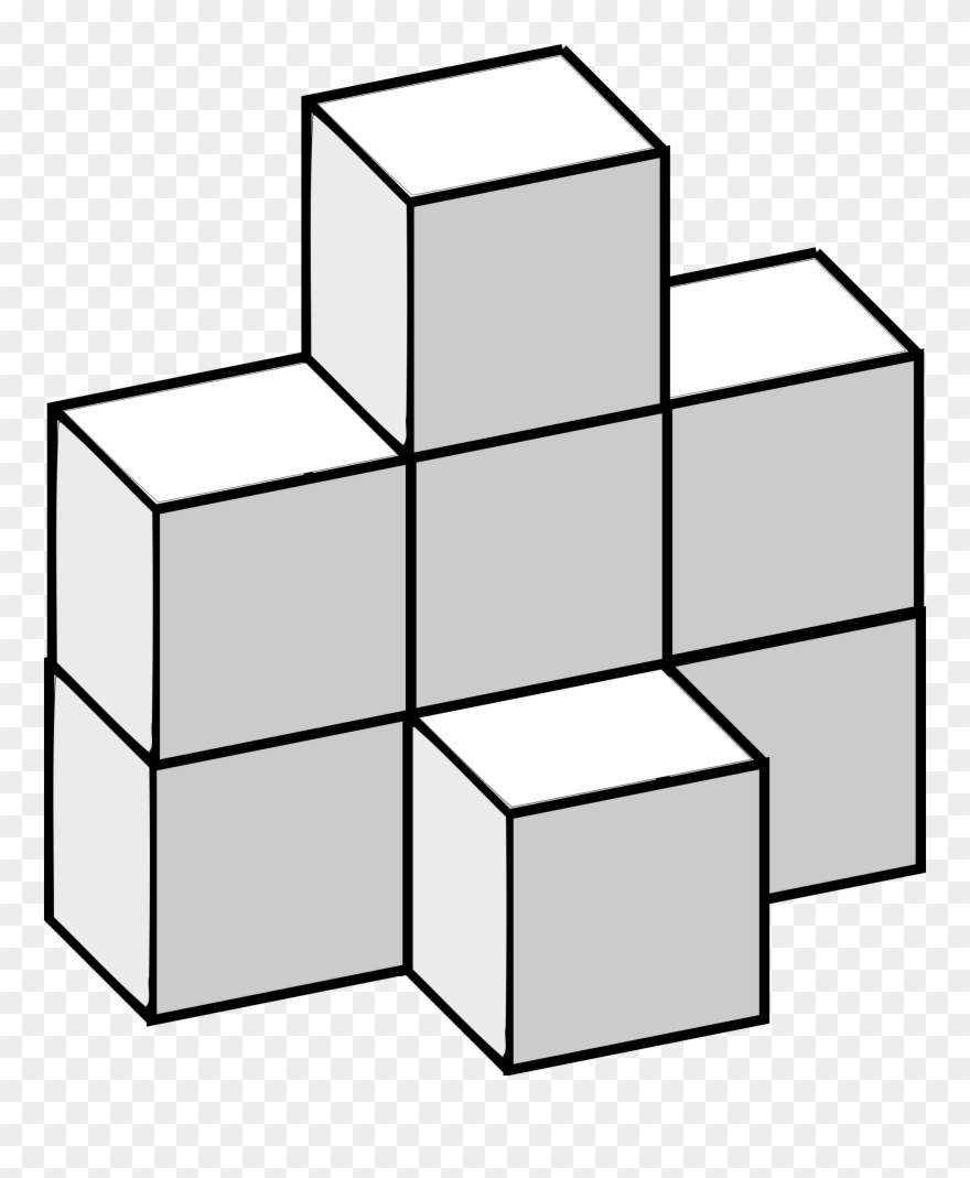 Math cubes clipart clipart black and white download Paper Origami Mathematics Cube Burr Puzzle - Math Cubes Clip ... clipart black and white download