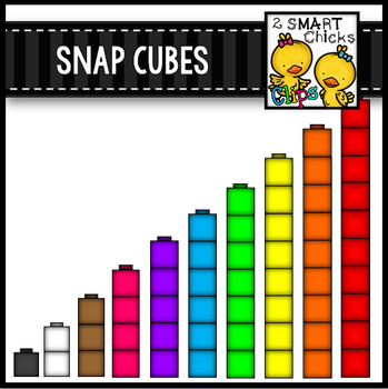 Math cubes clipart graphic stock Snap Cubes Clip Art {Math Center Manipulatives} graphic stock