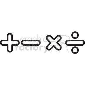 Math symbols clipart black and white jpg free library math symbols vector icon . Royalty-free icon # 398577 jpg free library