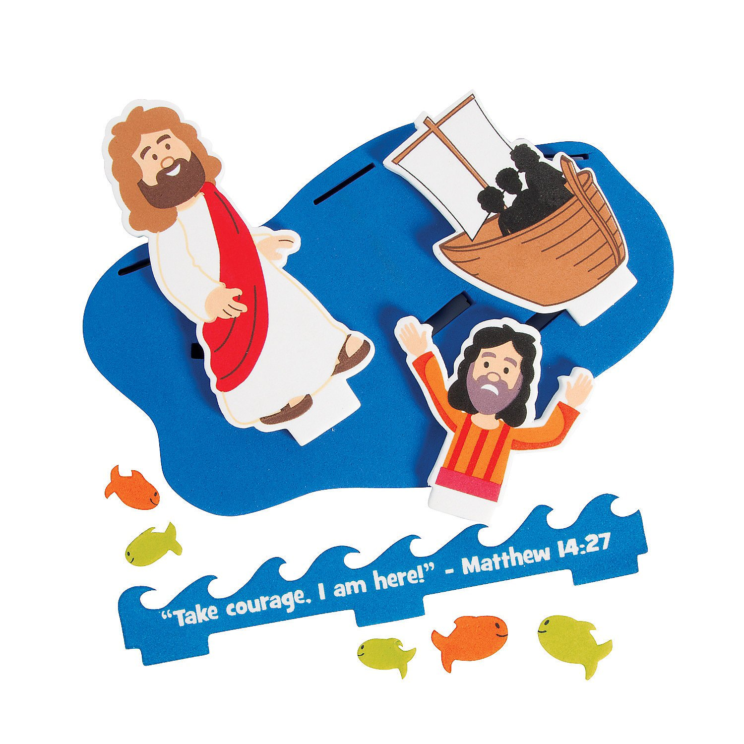 Matthew 14 27 clipart it is i picture black and white stock Amazon.com: 3D Jesus & Peter Walk on Water Floating Craft ... picture black and white stock