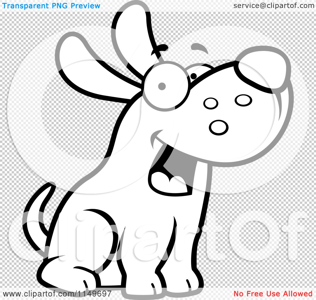Max the dog clipart clip download Cartoon Clipart Of A Black And White Friendly Max Dog Character ... clip download