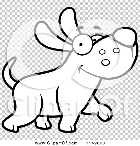 Max the dog clipart png library Cartoon Clipart Of A Black And White Happy Max Dog Character ... png library