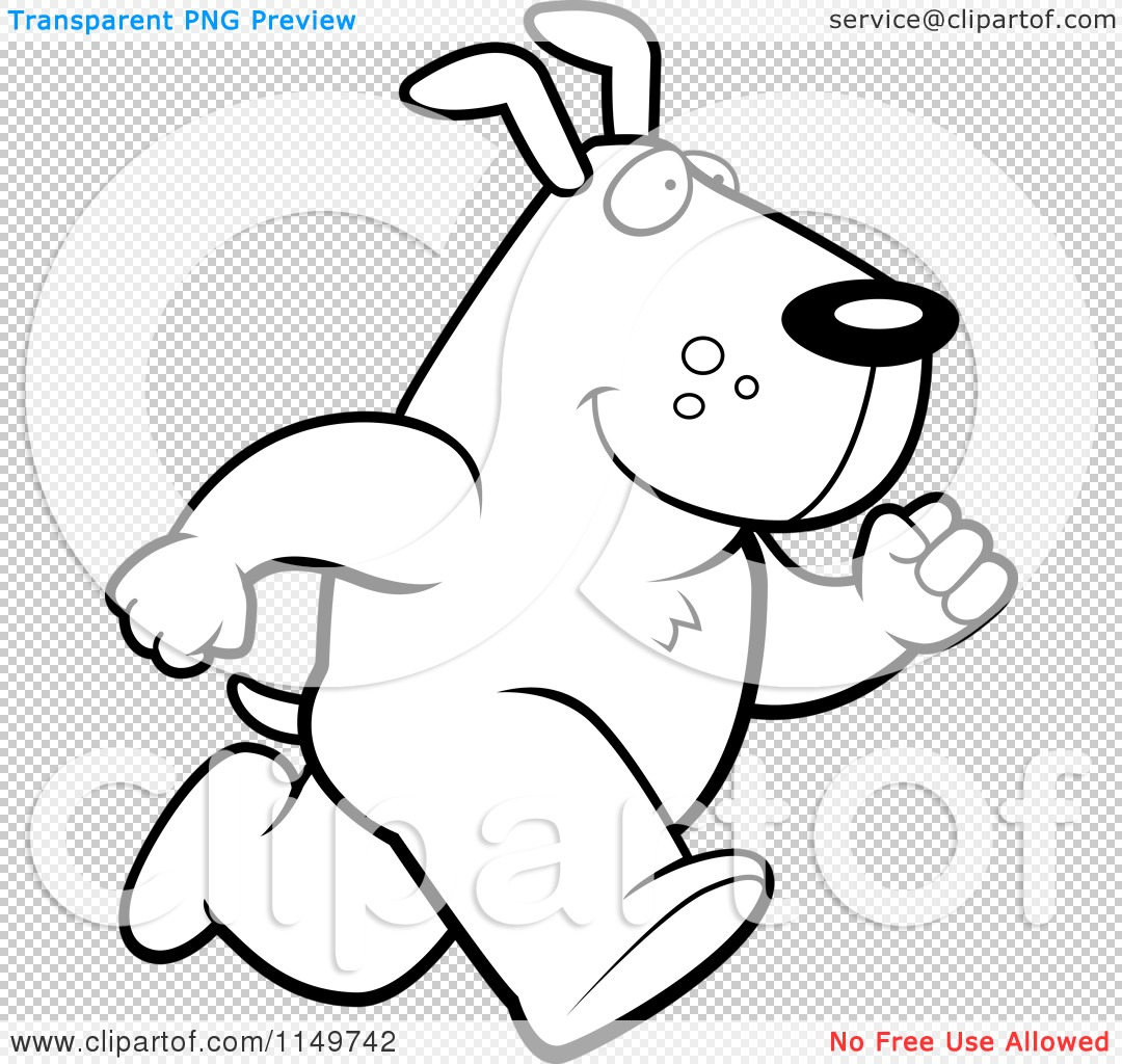 Max the dog clipart clipart royalty free library Cartoon Clipart Of A Black And White Max Dog Character Running ... clipart royalty free library