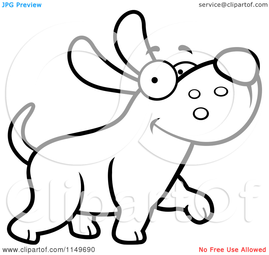 Max the dog clipart clip art royalty free download Cartoon Clipart Of A Black And White Happy Max Dog Character ... clip art royalty free download