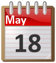 May 18th calendar clipart graphic library stock calendar May 18 - /time/calendar/flip_calendar/05_May ... graphic library stock