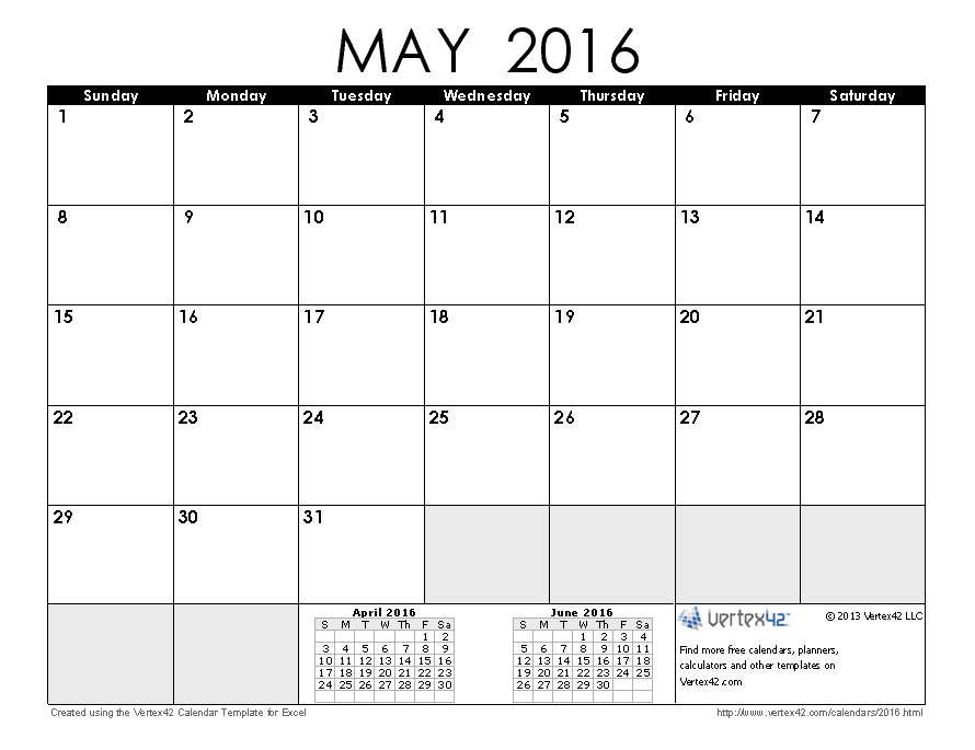 May 2016 calendar clipart graphic library 2016 Calendar Templates and Images graphic library