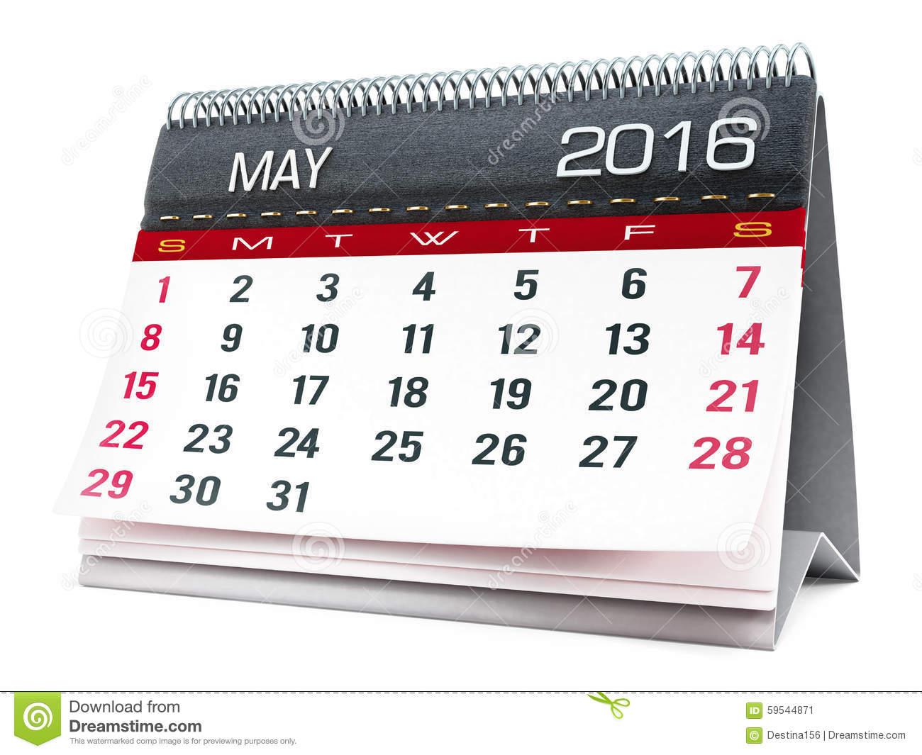 May 2016 calendar clipart png download May 2016 Desktop Calendar Stock Illustration - Image: 59544871 png download