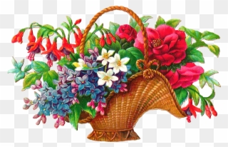May basket clipart free jpg freeuse Antique Images Free Flower Basket Clip Art 2 Wicket - Basket ... jpg freeuse