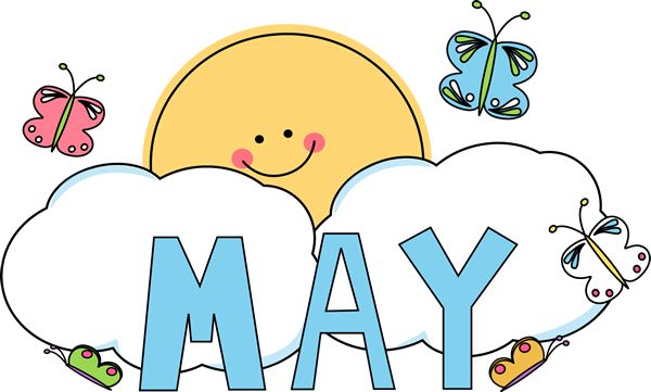 May calendar clipart