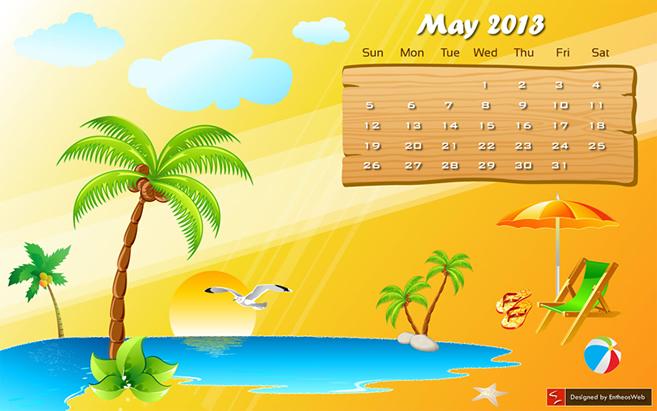 May calendar clipart summer svg free Free Summer Desktop Wallpaper Calendar – May 2013   Design ... svg free