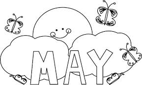 May clipart black and white jpg free May black and white clipart 3 » Clipart Station jpg free
