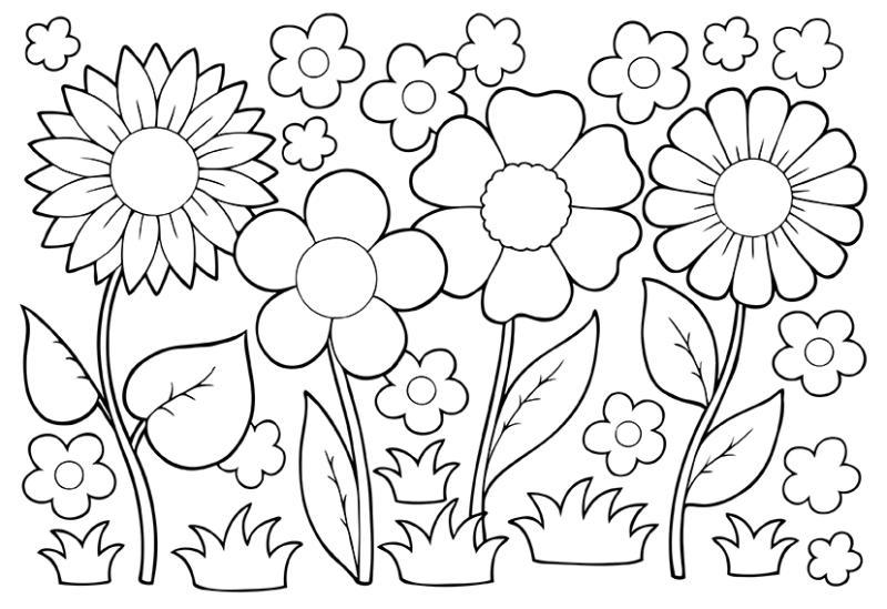 May clipart black and white royalty free May Flowers Clip Art Black And White April Showers Bring May ... royalty free
