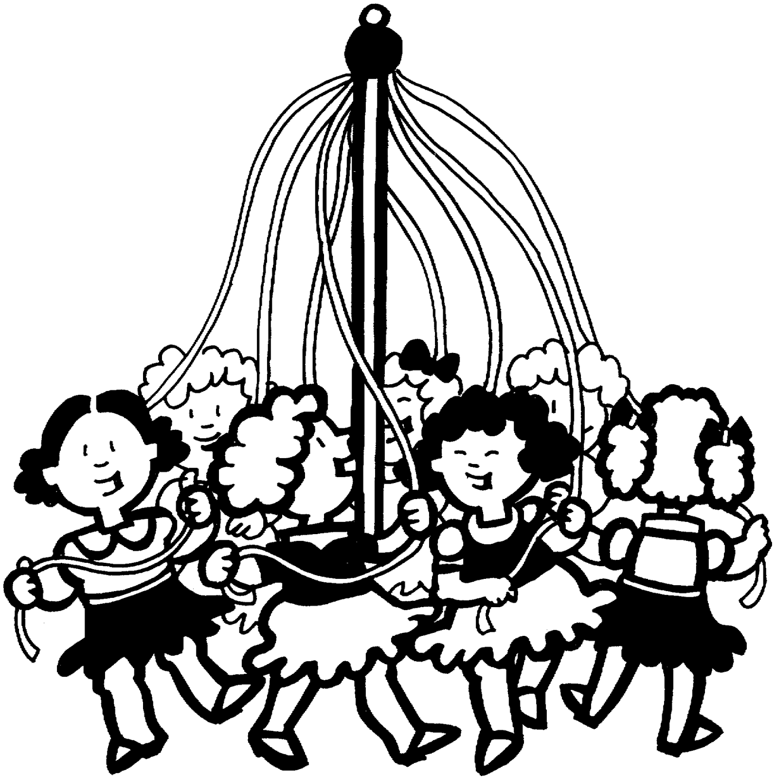 May day clip art picture black and white download Free May Day Basket Clip Art - ClipArt Best picture black and white download