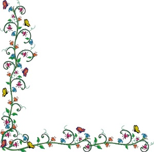 May flowers border clip art library Floral border designs clip art - ClipartFest library