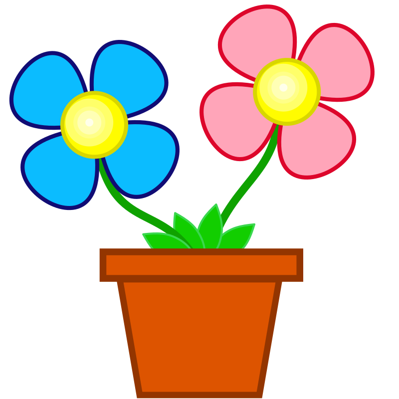 Flower in pot clipart. Flowers medium image png
