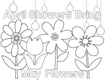 May flowers clip art black and white vector transparent stock Spring showers clipart black and white - ClipartFest vector transparent stock