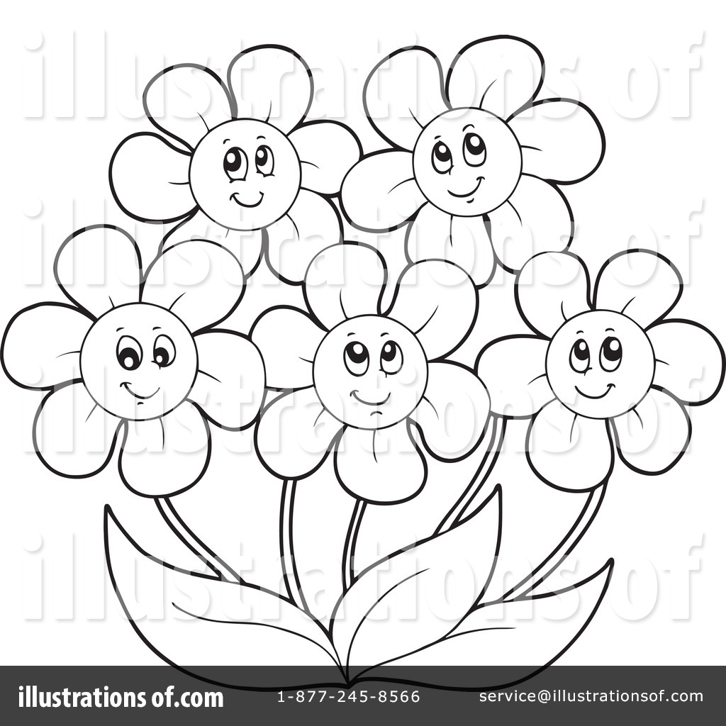 May flowers clip art black and white image freeuse download Flowers Clipart #1064192 - Illustration by visekart image freeuse download