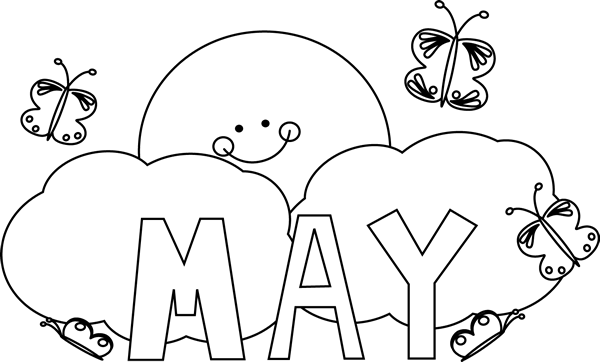 May flowers clip art black and white vector free library May Clip Art Black And White – smurfbane.org vector free library