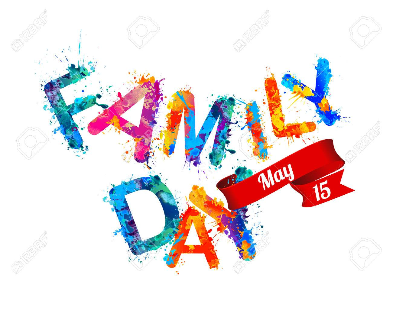 May holiday clipart png free Family day. May 15. Holiday card » Clipart Station png free
