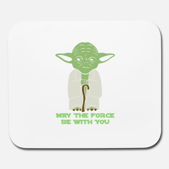 May the force be with you yoda clipart png black and white library Yoda - May the force be with you 2 Mouse pad Horizontal - white png black and white library