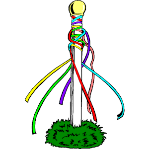Maypole clipart clipart royalty free stock Maypole 1 clipart, cliparts of Maypole 1 free download (wmf ... clipart royalty free stock