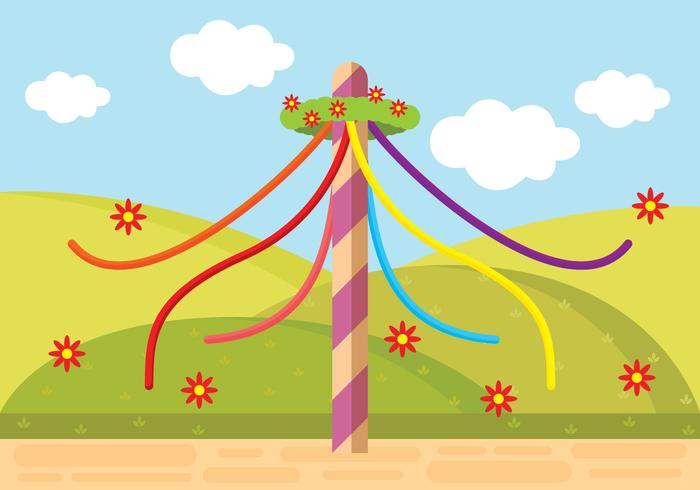 Maypole clipart picture stock Illustration Of Maypole - Download Free Vectors, Clipart ... picture stock