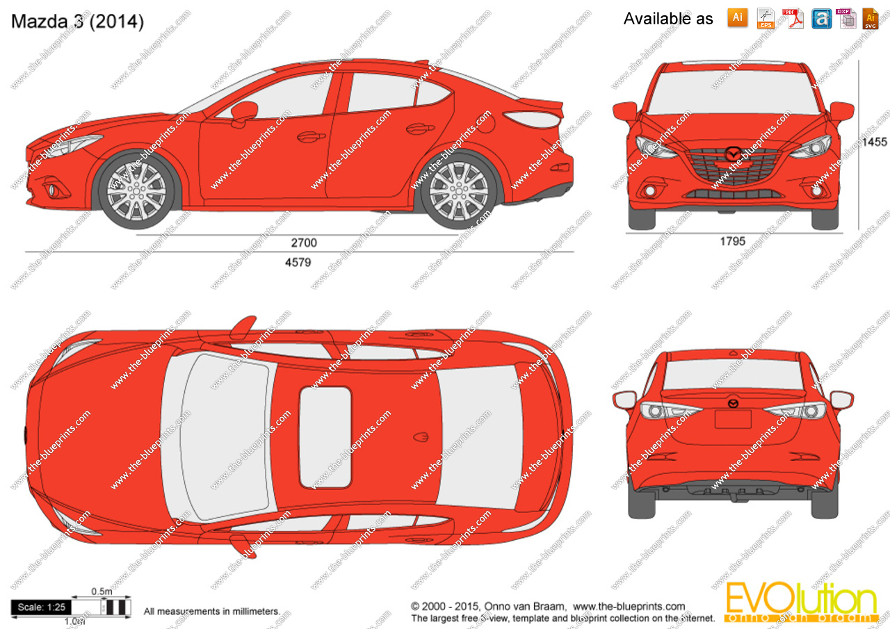 Mazda 3 clipart banner freeuse stock Mazda 3 Sedan vector drawing banner freeuse stock