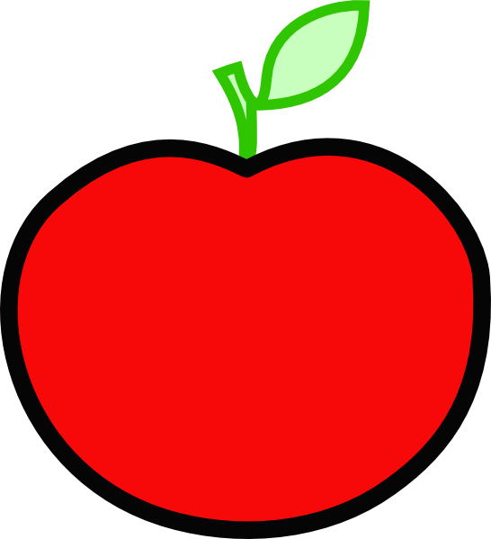 Red Apple Clip Art at Clker.com - vector clip art online, royalty ... png free stock