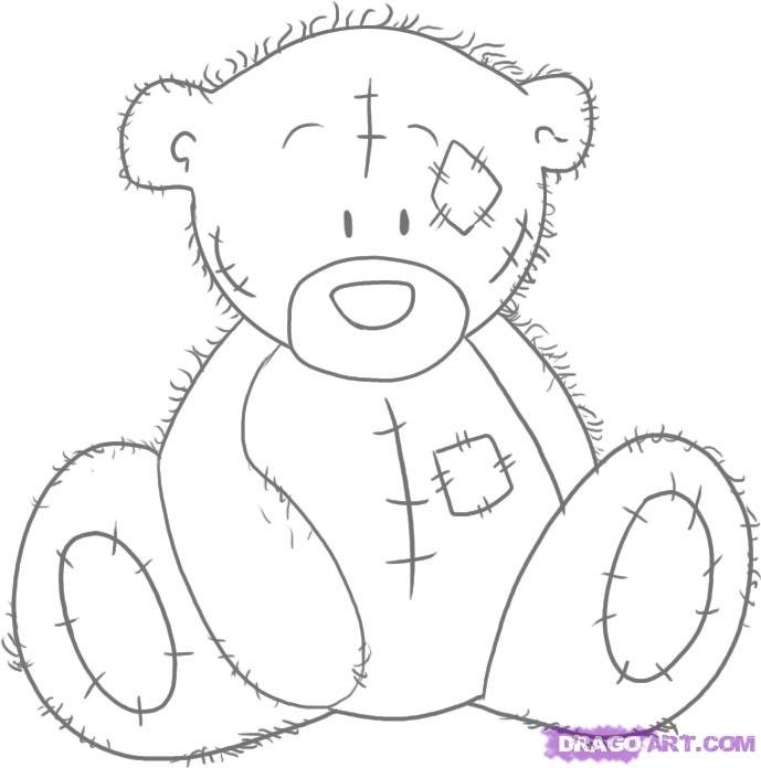 Me to you bear clipart graphic royalty free download How to Draw Tatty Teddy the Me To You Bear, Step by Step - Clip Art ... graphic royalty free download