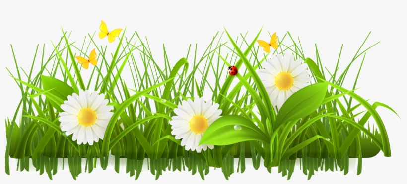 Meadow flower clipart clip library library Flower Meadow Clipart - Green Flowers Clip Art - Free ... clip library library