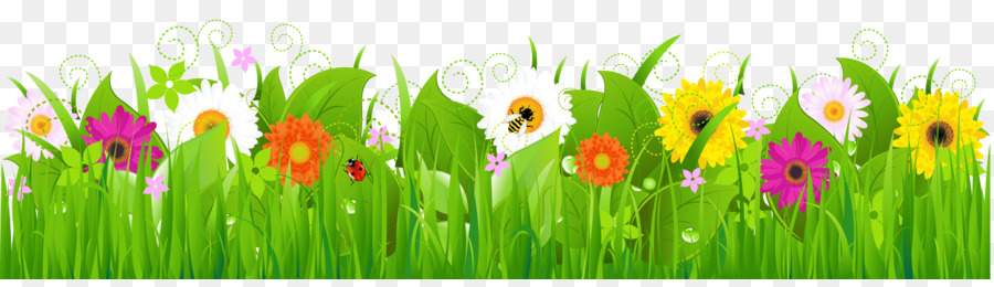 Meadow flower clipart clipart download Grass Background png download - 2378*669 - Free Transparent ... clipart download