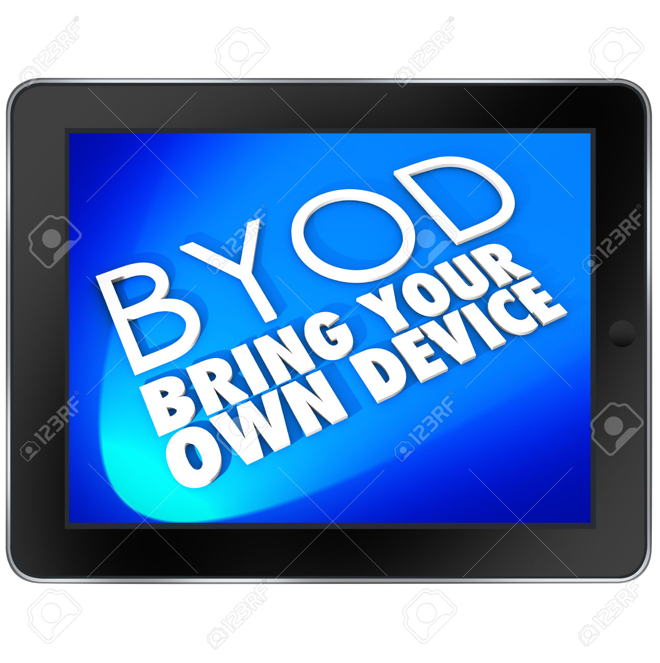 Meaning of clipart in computer graphic royalty free Acronym BYOD Meaning Bring Your Own Device On A Tablet Computer ... graphic royalty free