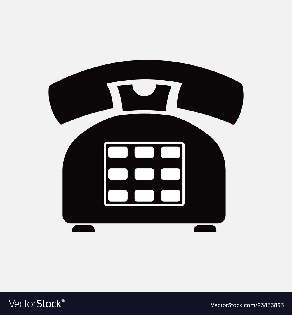 Means of communication clipart vector freeuse download Phone icon retro old means of communication vector freeuse download