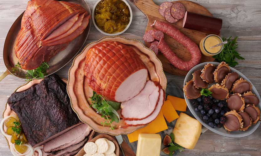 Meat bird cheese sausage fish fruits clipart png royalty free stock Hickory-Smoked Meats Since 1945   New Braunfels Smokehouse png royalty free stock