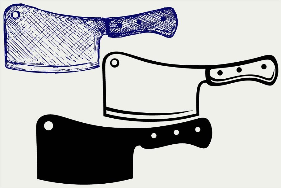 Meat cleaver clipart png Meat cleaver knife SVG png