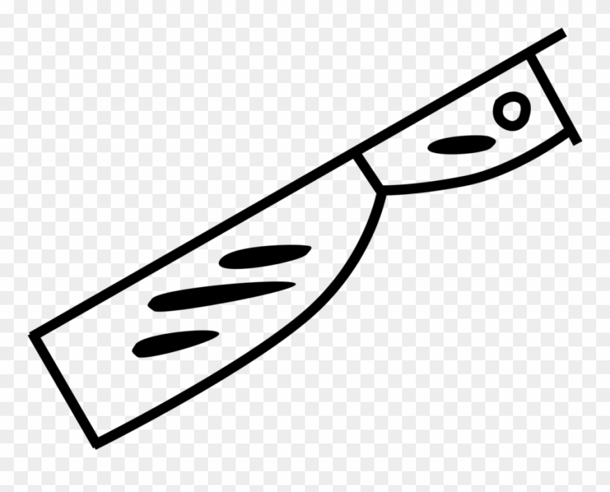 Meat cleaver clipart clipart free stock Vector Illustration Of Kitchen Meat Cleaver And Knife - Stock ... clipart free stock