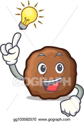 Meatball clipart clipart freeuse download Vector Clipart - Idea meatball mascot cartoon style. Vector ... clipart freeuse download