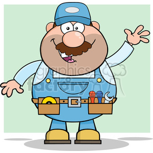 Mechanic clipart images clip freeuse library 8524 Royalty Free RF Clipart Illustration Smiling Mechanic Cartoon  Character Waving For Greeting Vector Illustration With Background clipart.  ... clip freeuse library