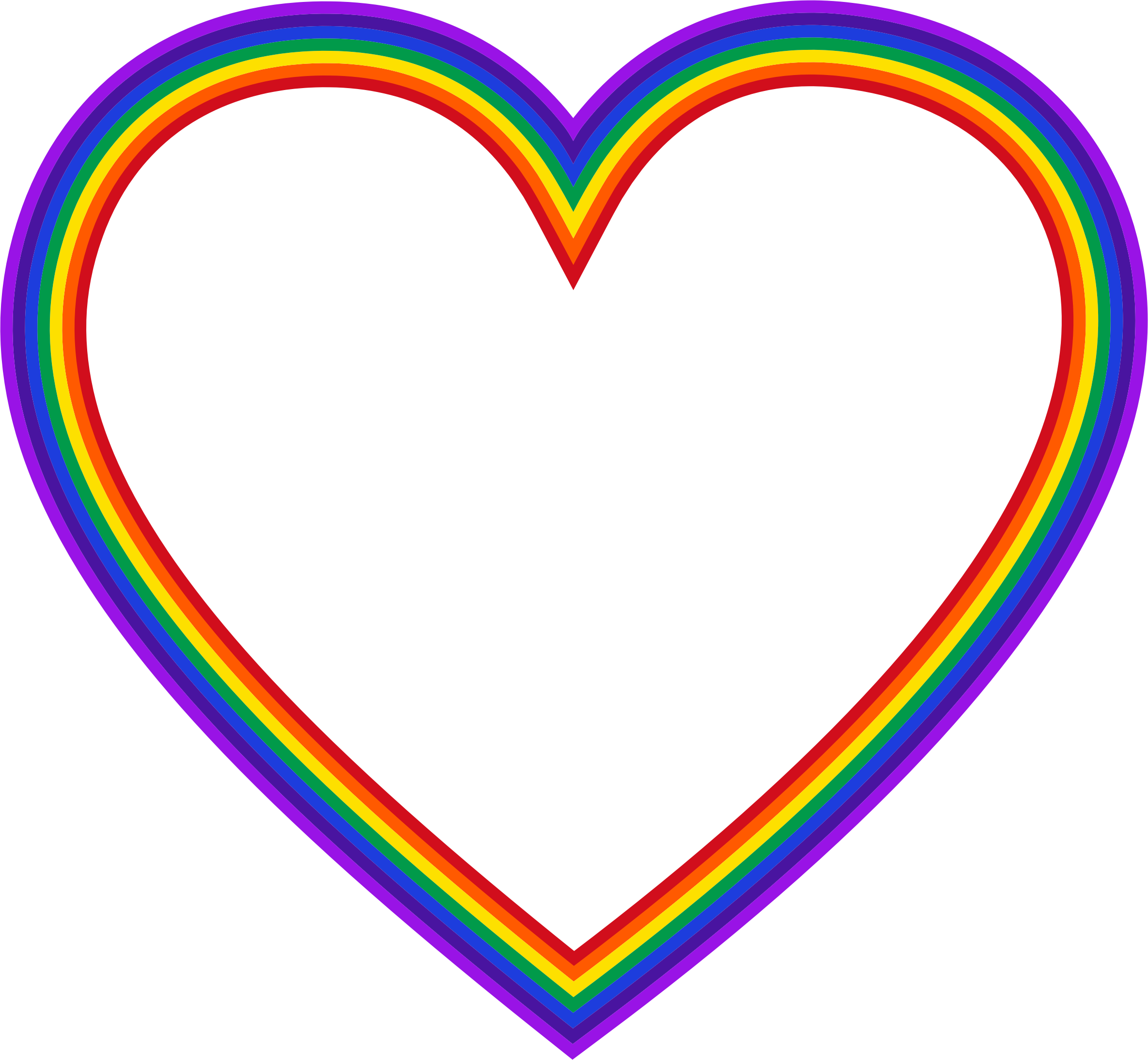 28+ Collection of Rainbow Heart Clipart | High quality, free ... jpg black and white stock