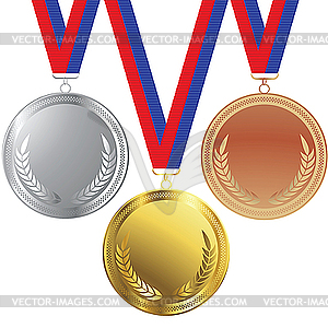 Medaillen clipart png freeuse download Set von Medaillen - Vektor Clip Art png freeuse download