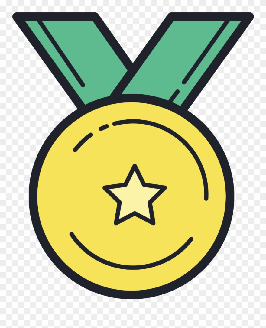 Medal icon clipart svg library download Gold Medal Icon - Award Clipart (#1179437) - PinClipart svg library download